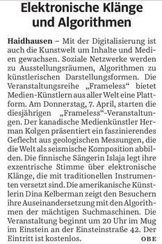 Süddeutsche Zeitung vom 5. April 2016